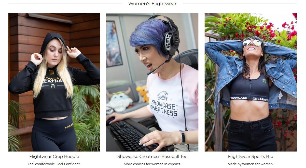 FlyQuest unveiled a female esports apparel line in 2019