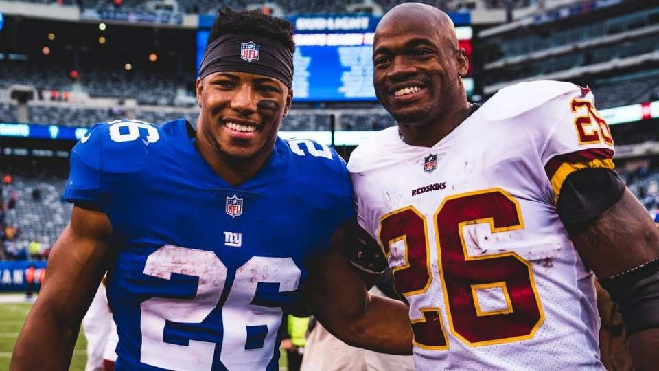 Saquon Barkley Adrian Peterson