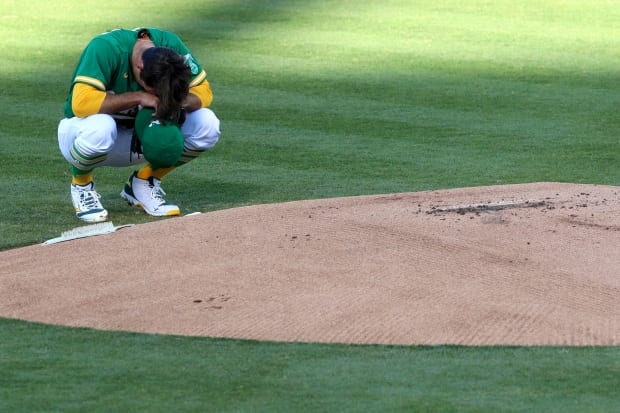A's fall to the Rockies