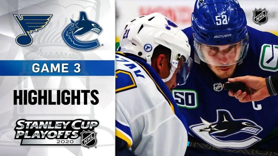 St. Louis Blues vs. Vancouver Canucks game recap