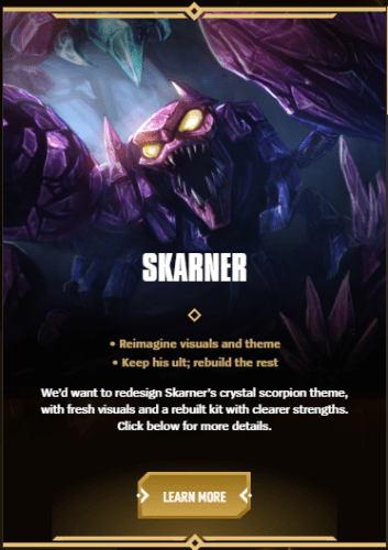 Champion Rework Vote Skarner