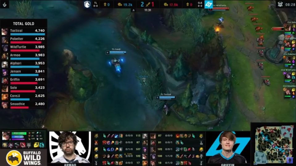 Team Liquid got out to an early lead against CLG.