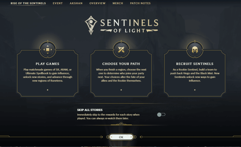 Sentinels of Light Event Guide