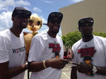 Festa a Miami: parade per la vittoria nelle Finals 2013