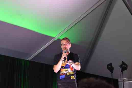 Chris Hardwick made a surprise appearance in the Comedy Tent! Photo Source: Shannon Parola