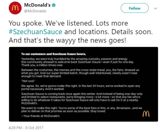 McDonald's Twitter