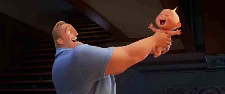 Mr. Incredible and Jack-Jack in the Incredibles 2.
