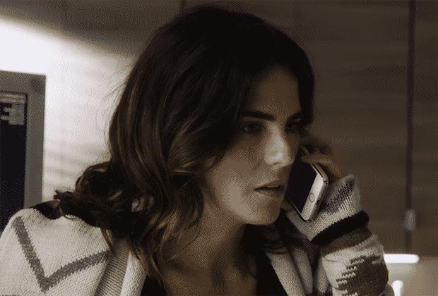 laurel on phone