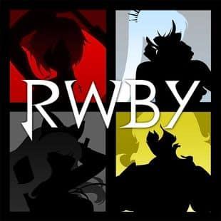 Silhouette of team RWBY