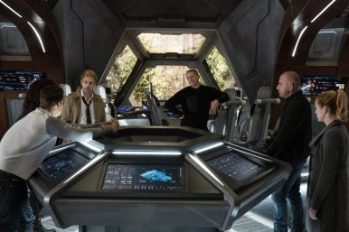 Pictured (L-R): Nick Zano as Nate Heywood/Steel, Maisie Richardson-Sellers as Amaya Jiwe/Vixen, Matt Ryan as Constantine, Wentworth Miller as Leo - X/Citizen Cold, Dominic Purcell as Mick Rory/Heat Wave and Caity Lotz as Sara Lance/White Canary. Photo courtesy of DC Legends TV.