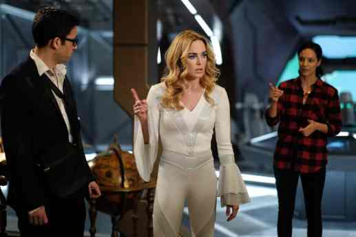 Pictured (L-R): Adam Tsekhman as Gary, Caity Lotz as Sara Lance/White Canary and Tala Ashe as Zari. Photo courtesy of DC Legends TV.