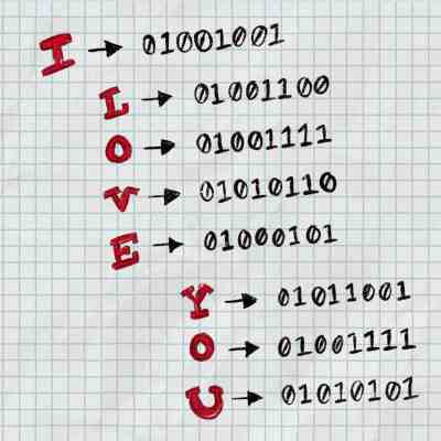 I Love You in Binary Code