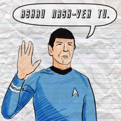 Spock says I love you in vulcan