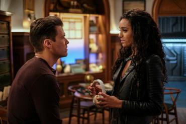 Nick Zano as Nate Heywood/Steel (left) and Maisie Richardson-Sellers as Amaya Jiwe/Vixe (right). Photo courtesy of DC Legends TV.