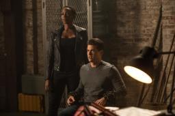 Tracy Ifeachor as Kuasa (left) and Nick Zano as Nate Heywood/Steel (right). Photo courtesy of DC Legends TV.