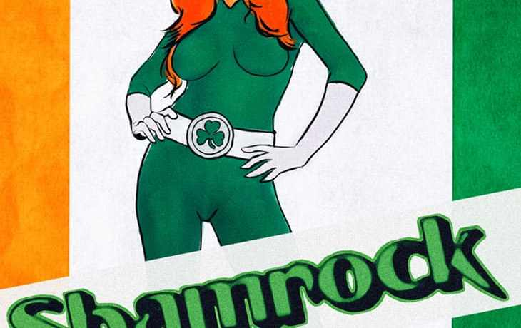 Marvel Comics Irish Superhero Shamrock Redesign