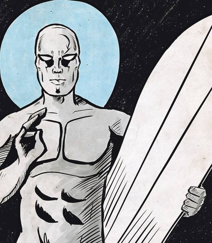 The Silver Surfer AKA Christ on a Surfboard