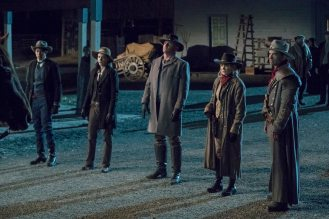 Pictured (L-R): Keiynan Lonsdale as Wally West, Tala Ashe as Zari, Dominic Purcell as Mick Rory/Heat Wave, Caity Lotz as Sara Lance/White Canary and Johnathon Schaech as Jonah Hex. Photo courtesy of DC Legends TV.
