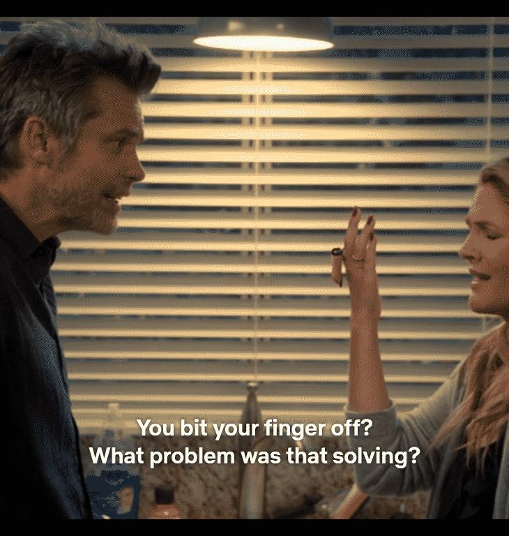 Sheila tells Joel about her finger.