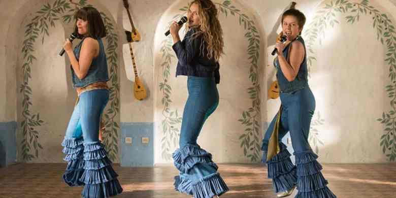 Lily James in Mamma Mia! Here We Go Again.