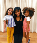 Robinson with Mariam and London. Photo from @NicoletteKloe on Instagram.