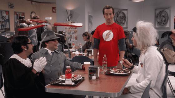 Raj, Leonard, Howard, and Sheldon dressed up for Halloween on The Big Bang Theory