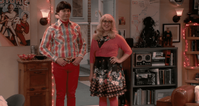 Sheldon and Amy on The Big Bang Theory