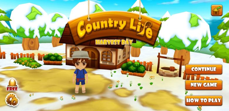 Harvest Day: Country Life title screen