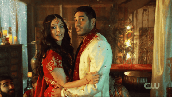 Zari and Sanjay on Legends of Tomorrow