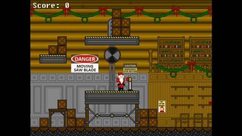 Santa in his shop