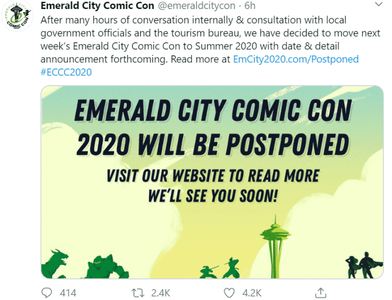 Emerald City Comic Con 2020