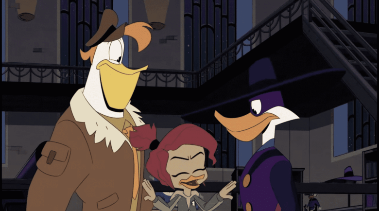 DuckTales Reboot-Darkwing Duck, Launchpad, and Gosalyn