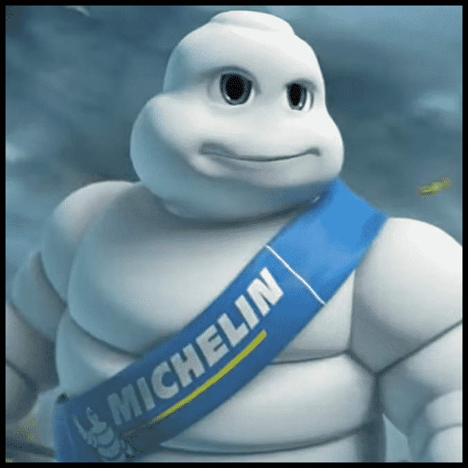 Michelin Man - hugs bad guys like the road.