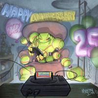 Vectorman Turns 25: Art source Marty Davis