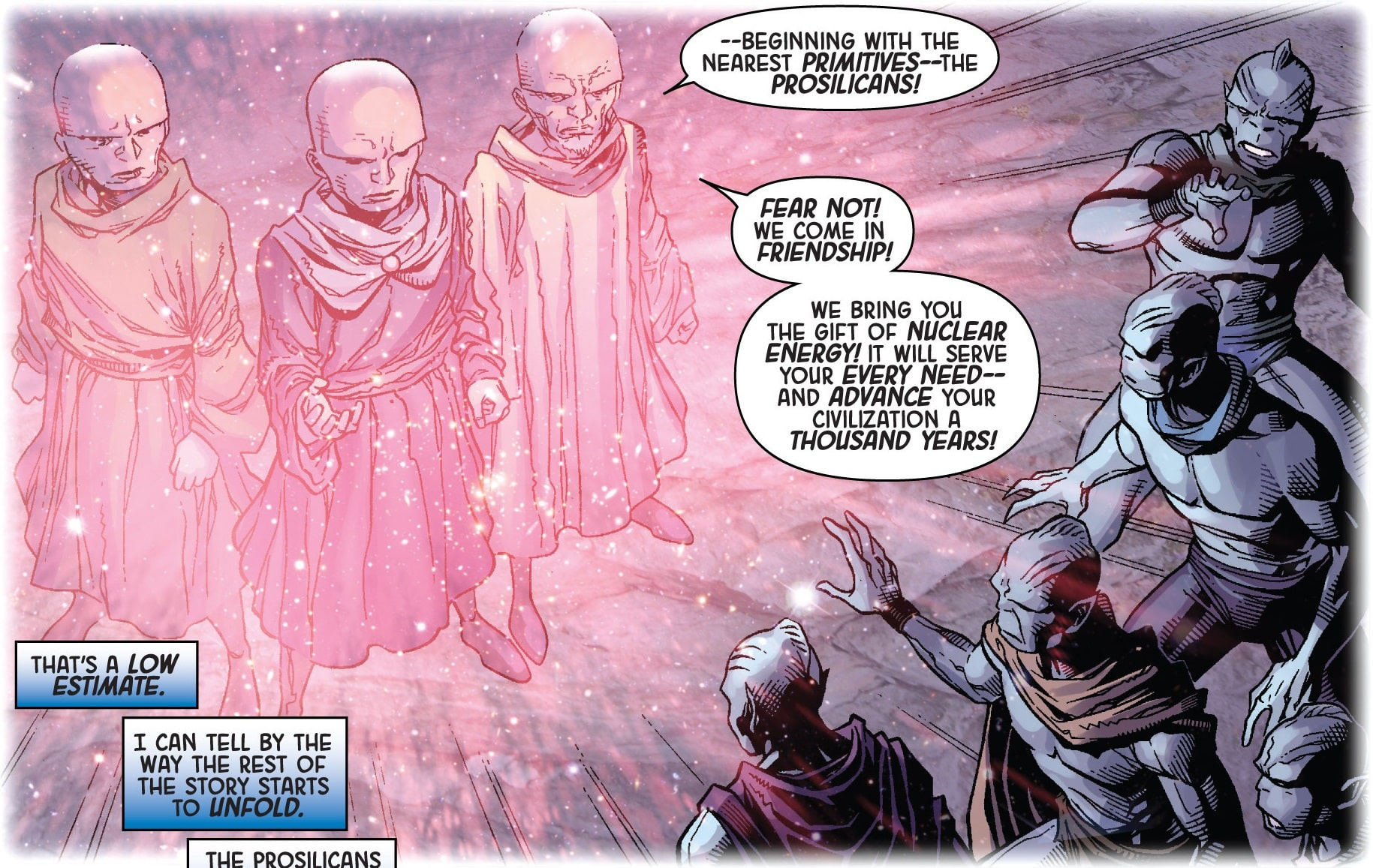 Uatu_Earth-616_and_his_people_visit_the_Procsilicans