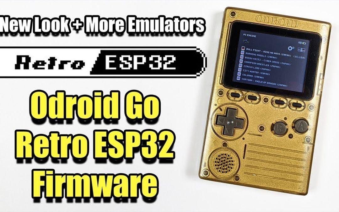 Retro ESP32 For The ODROID GO – A New Look + More Emulators