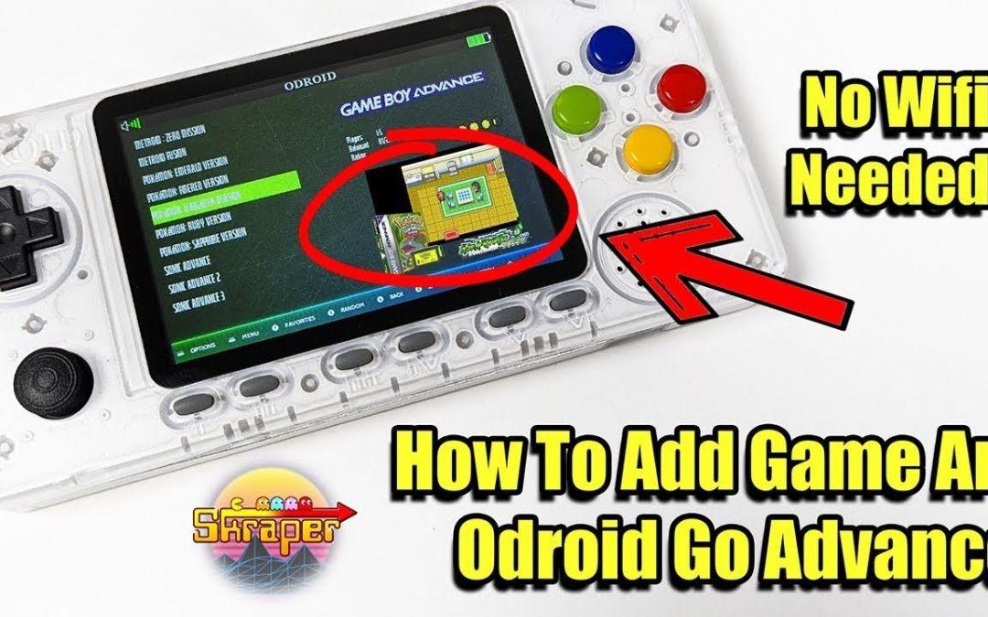 How to Add Game Art ODROID GO Advance – Scrape Box Art No WIFI Needed