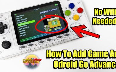 How to Add Game Art ODROID GO Advance – Scrape Box Art No WIFI Needed