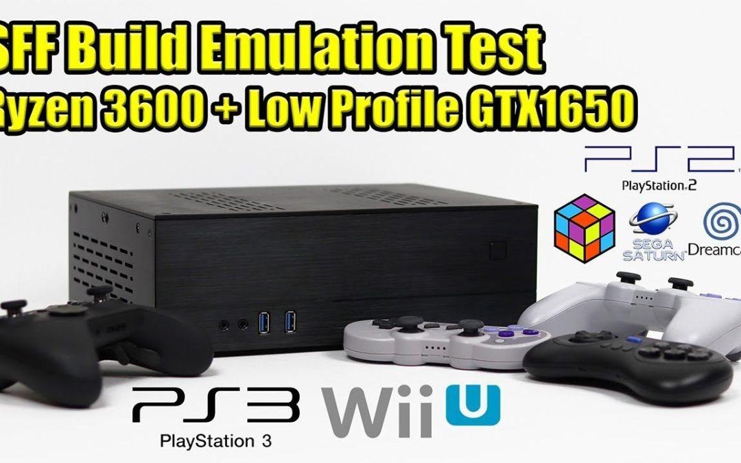 SFF Build Emulation Test – RPCS3 CEMU PCSX2 & More – Low Profile GTX 1650 + RYZEN 5 3600