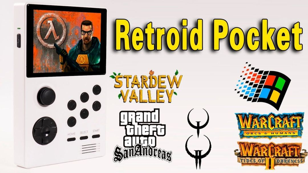Retroid Pocket – PC/Android Gaming Test (Half Life/GTA/Quake/Warcraft)