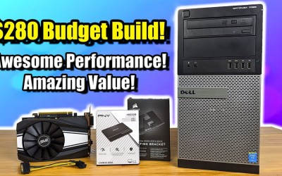 $280 Budget Gaming Build Amazing Performance! Awesome Value!