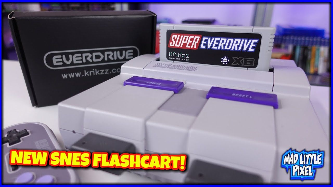 A NEW Super Nintendo FlashCart! The Super Everdrive X6 From Krikzz! Compared To The X5 & SD2SNES Pro
