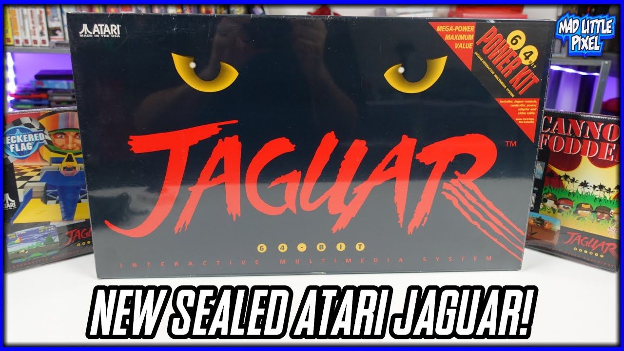 New Sealed Atari Jaguar Console Unboxed! Breaking The Seals On Retro Games & Systems! Madlittlepixel