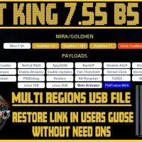 PS4 7.55 Jailbreak NIGHT KING V1.12 B5 at User's Guide | USB Method | Online & offline | GoldHEN 1.1