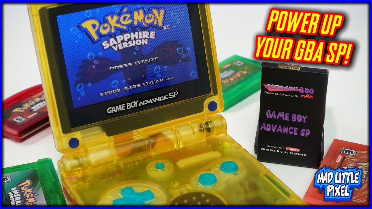 Power Up Your Nintendo GBA SP! The MegaBat800 High Capacity Battery Replacement!