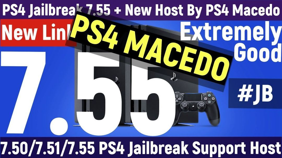 PS4 Jailbreak 7.55 + Very Stable + Host By PS4 Macedo + Pretty Good