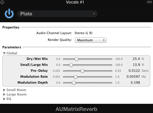 Matrix Reverb Plate heavy