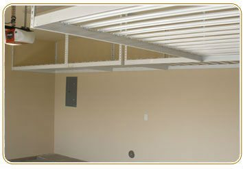 Overhead Garage Storage Racks One Car Layout High Ceilings
