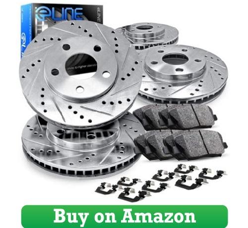 Wrangler Front Rear Drill Slot Brake Rotors