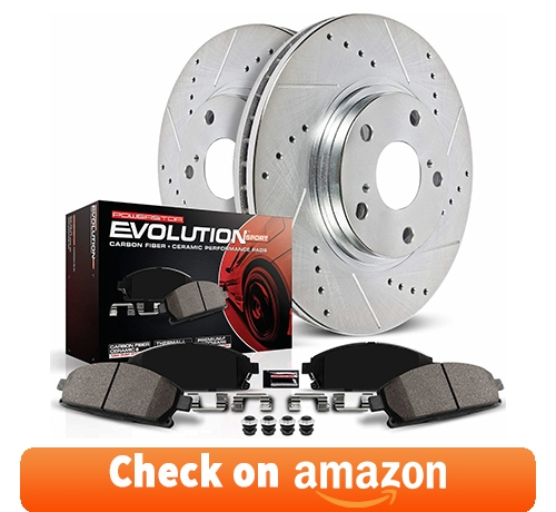 Power Stop K2067 Front Brake Kit with Drilled/Slotted Brake Rotors and Z23 reviews